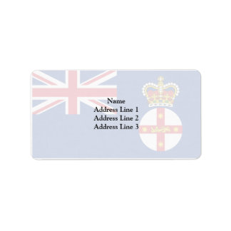 Governor Of New South Wales, Australia flag Address Label