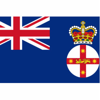 Governor Of New South Wales, Australia flag Photo Sculpture