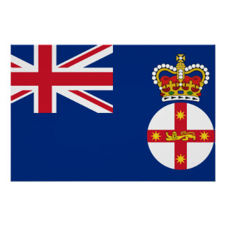 Governor Of New South Wales, Australia flag Poster