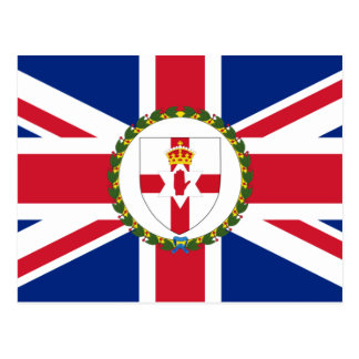 Governor Of Northern Ireland, United Kingdom flag Postcard