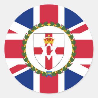 Governor Of Northern Ireland, United Kingdom flag Round Stickers