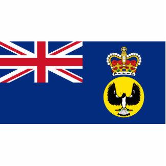 Governor Of South Australia, Australia flag Photo Sculptures