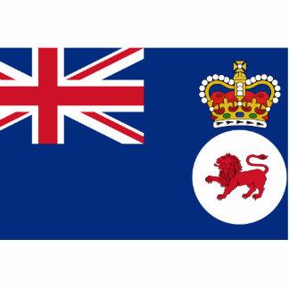 Governor Of Tasmania, Australia flag Photo Sculptures