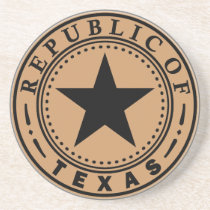 Governor of Texas Sandstone Coaster