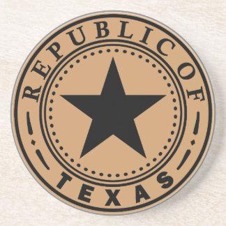 Governor of Texas Sandstone Coaster