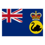 Governor Of Western Australia, Australia flag Poster