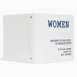 Governor Romney's Binder full of women