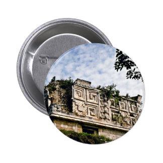 Governor s Palace At Mayan Ruins Uxmal Pinback Buttons