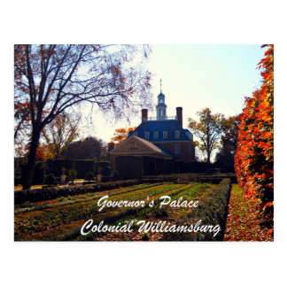 Governor s Palace Colonial Williamsburg Post Card
