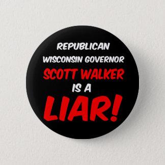 governor scott walker button