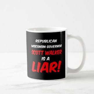 governor scott walker classic white coffee mug