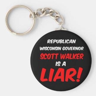 governor scott walker keychain