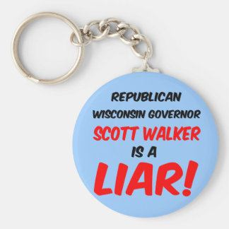 governor scott walker keychain