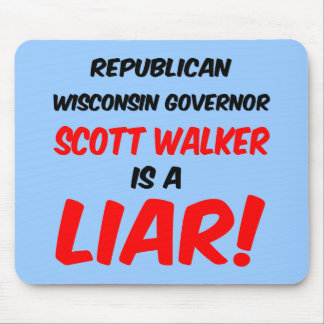 governor scott walker mouse pad