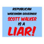 governor scott walker postcard