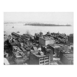Governors Island, The Narrows, New York City Vinta Postcard