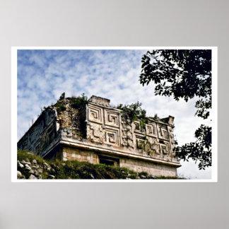 Governor's Palace At Mayan Ruins, Uxmal Poster