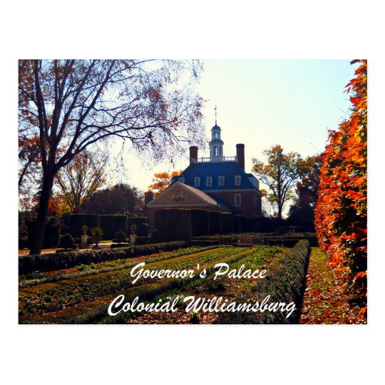 Governor's Palace, Colonial Williamsburg Postcard