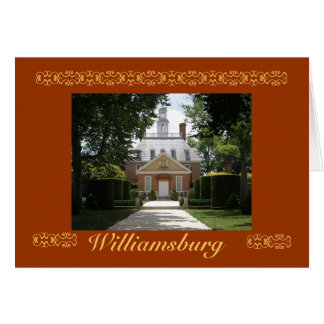 Governors Palace, Williamsburg Card