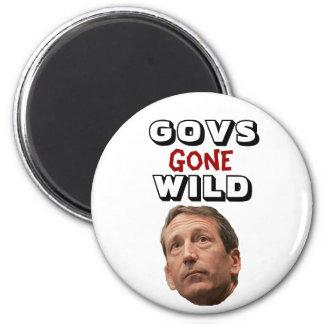 Govs Gone Wild: Mark Sanford 2 Inch Round Magnet