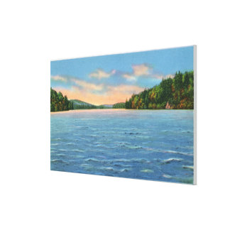 Govt. Free Camp Sites View of Lower Saranac Lake Canvas Print