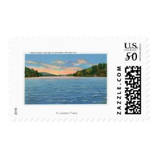 Govt. Free Camp Sites View of Lower Saranac Lake Postage
