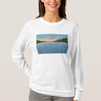 Govt. Free Camp Sites View of Lower Saranac Lake T-Shirt