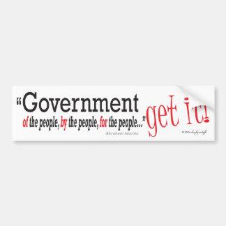 Govt. Get It! Bumper Sticker
