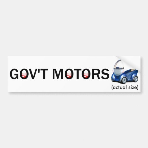 GOV'T MOTORS CAR BUMPER STICKER