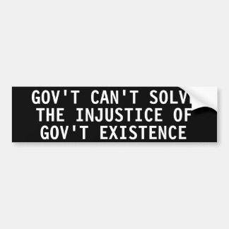 Govt no puede solucionar la injusticia de la exist pegatina para auto