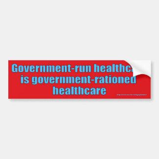 Govt Rationed Bumper Car Bumper Sticker