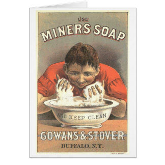 Gowans & Stover Miners Soap Card