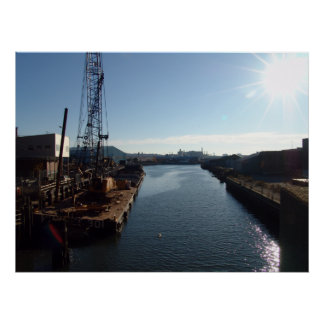 Gowanus Canal at Erie Basin Print