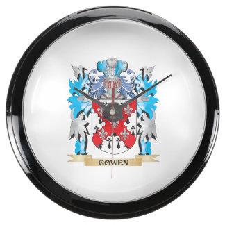 Gowen Coat of Arms - Family Crest Aquavista Clock