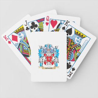 Gowen Coat of Arms - Family Crest Bicycle Poker Deck