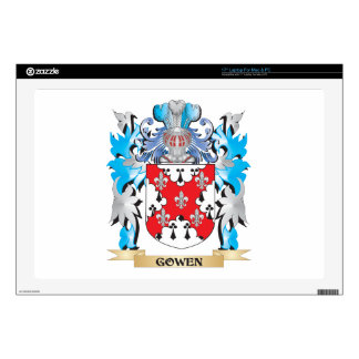 """Gowen Coat of Arms - Family Crest 17"""" Laptop Skins"""