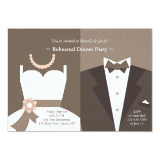 Gown and Tuxedo Invitation