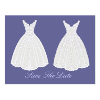 Gown Save The Date Commitment Ceremony Postcard