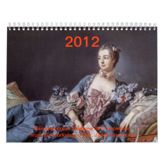 gown señora de pompadour calendarios