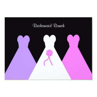 Gowns Bridesmaid Luncheon  or Brunch Invitation Personalized Invite