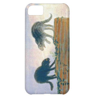 Goya cats on a rooftop case for iPhone 5C