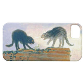 Goya cats on a rooftop iPhone SE/5/5s case