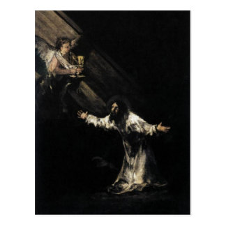 Goya, Christ on the Mount of Olives 1819 Oil on pa Post Card