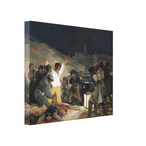 Goya-Ejecución de Francisco de defensores de Madri Impresiones De Lienzo
