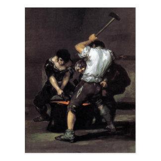 Goya, el aceite de la fragua C. 1819 en la lona, 1 Tarjetas Postales