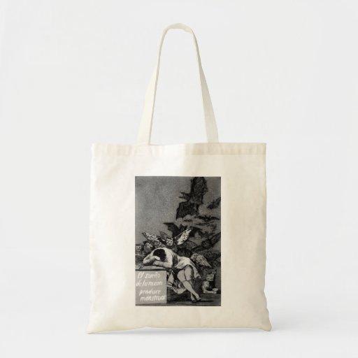 Goya el sueño de la razón produce a monstruos bolsa tela barata