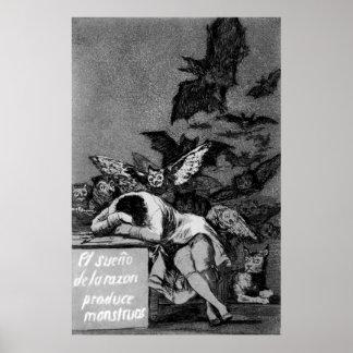 Goya el sueño de la razón produce a monstruos impresiones