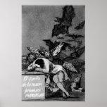 Goya el sueño de la razón produce a monstruos póster