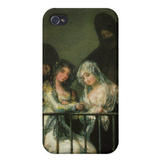 Goya Majas on Balcony fine art famous painting Cover For iPhone 4