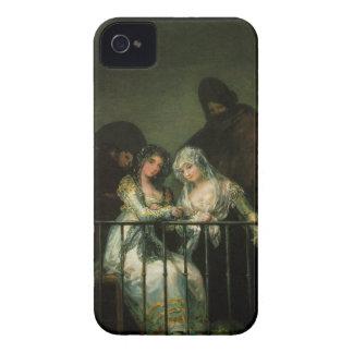 Goya Majas on Balcony fine art famous painting iPhone 4 Case-Mate Case